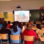 Charla en colegio sobre bienestar animal en Colegio La Biznaga 2014