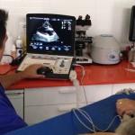 Realización de ecocardiografía